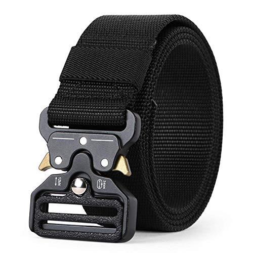Charlemain Cinturón Táctico Cinturón de Cobra Cinturón Nylon de Servicio Pesado Hebilla de Metal de liberación Rápida para Hombres y Mujeres