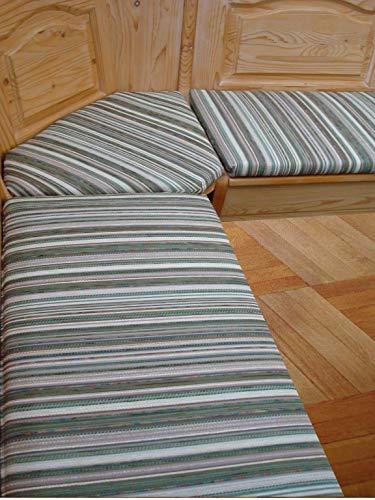 bequemer-sitzen Eckbank-Auflagen Landhaus Fleckerlteppich grün (120 cm)