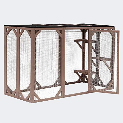 Recinzione gatto recinto spazio recintato per gatti da esterno giardino 180x80x111,8 cm