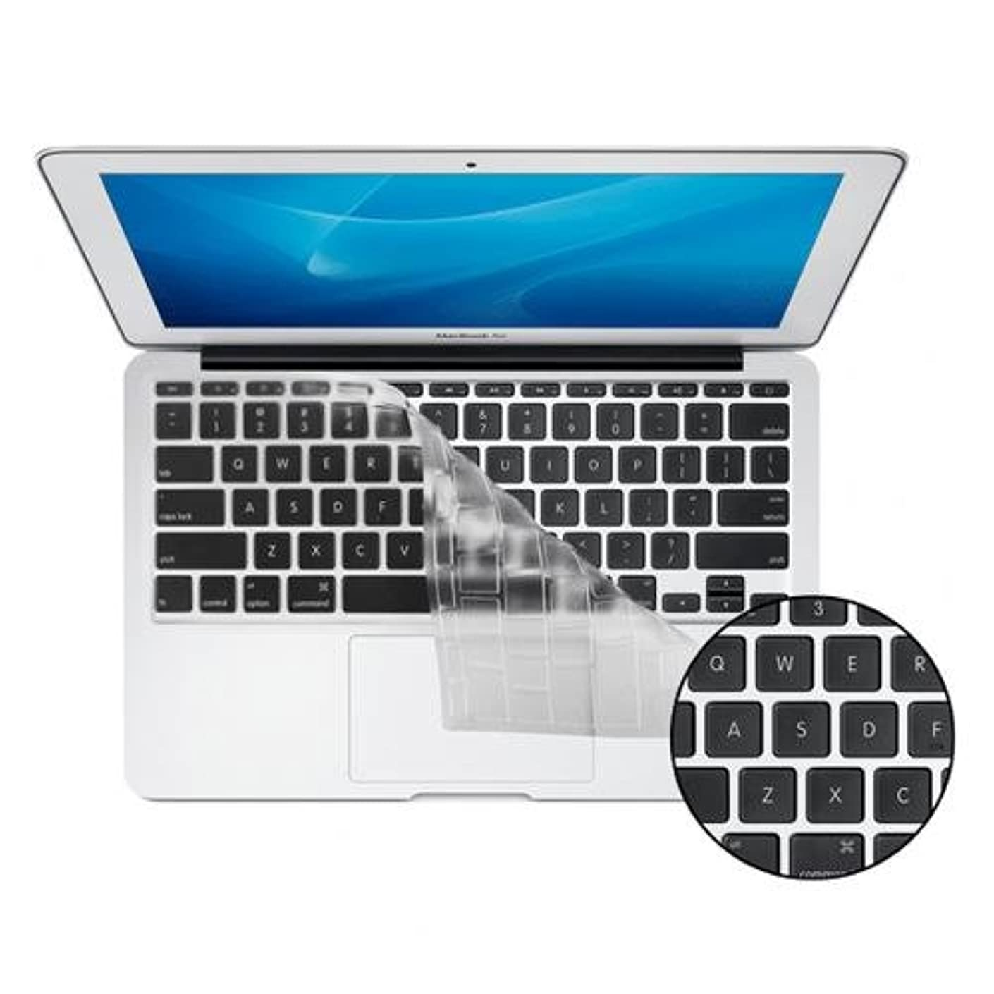 KB Covers ClearSkin 11 Ultra-Clear Keyboard Cover for MacBook Air 11-Inch (ClearSkin-M11-US)