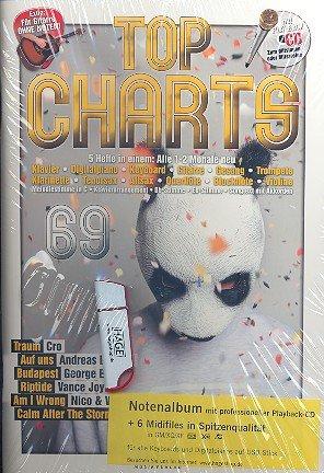 Top Charts Band 69 (+ CD, midifiles op USB-stick): voor C, B, Es-instrumenten, piano, gitaar, songteksten met akkoorden