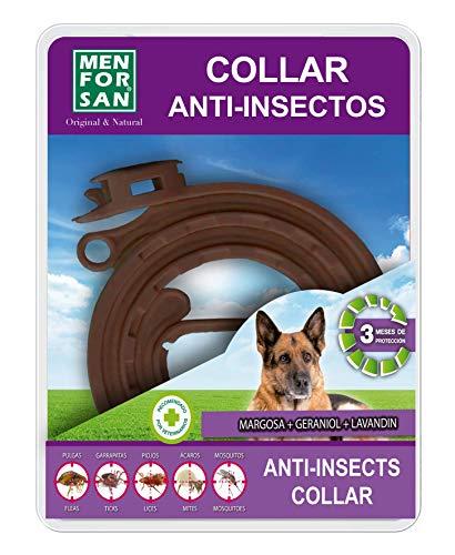 MENFORSAN Collar Anti-Insectos 3 Activos para Perros   con Margosa, Geraniol Y Lavandino   Repelente De Insectos   Protección Eficaz con Ingredientes Naturales 200 g