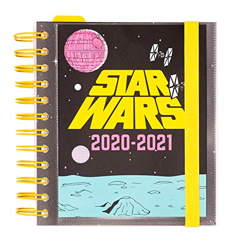 ERIK - Agenda escolar 2020/2021 día página M Star Wars, 11 meses (14x16 cm)