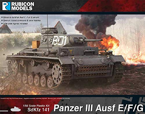 ルビコンモデル 1/56 ドイツ軍 3号戦車 E/F/G型 プラモデル RB0091