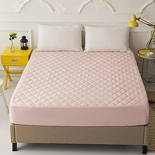 CYYyang Funda colchón Microfibra, elástica y Ajustable, Sábana Impermeable de Color Puro orina-Jade_90 * 200cm