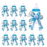 JZK 24 x Azul biberones favores Baby Shower Cajas Regalo para Baby Shower Fiesta cumpleaños niño Bautizo Bautismo recién Nacido