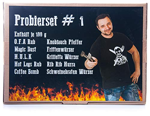 Klaus grillt 10er Probierset #1 Gewürzset, Gewürt-Probier-Set