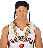 FIESTAS GUIRCA Collar de Cadena de Oro de imitación para Disfraz Rapero Hip Hop