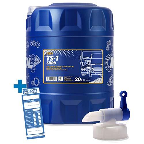 MANNOL Motorenöl 15W-40 TS-1 SHPD Motoröl 20L für Traktor/Schlepper/Bus + Auslaufhahn
