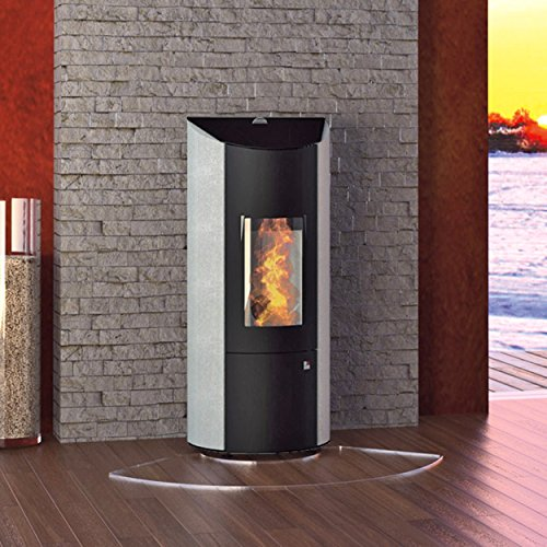 Olsberg O431483 pelletkachel Levana staal zwart/natuursteen 6 kW