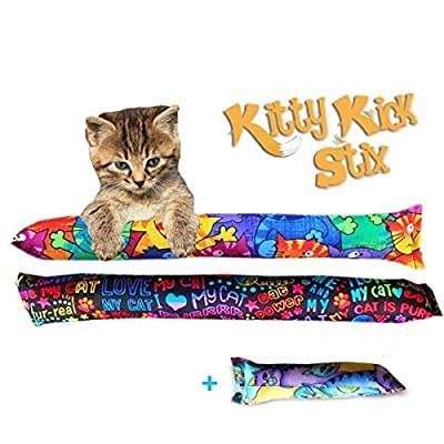 "Kitty Kick Stix 15"" Original Catnip Kicker Toy (Set of 2) (15"" +6"" Combo)"