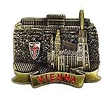 zamonji Wien, Österreich 3D Metall Kühlschrank Magnete Tourismus Souvenirs Home Dekoration