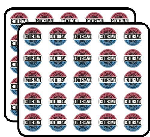 Rotterdam Nederland Wereld Vlaggenstempel Vinyl Stickers Grappig Leuke voor Kids DIY Crafts, Scrapbooking, Laptop, Bumper Auto Stickers, Stickers voor Kinderen, 50 Pack
