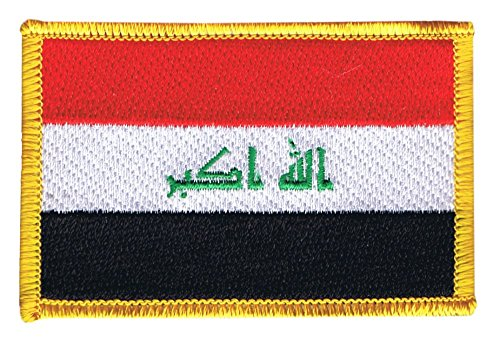 Flaggen Aufnäher Irak 2009 Fahne Patch + gratis Aufkleber, Flaggenfritze®