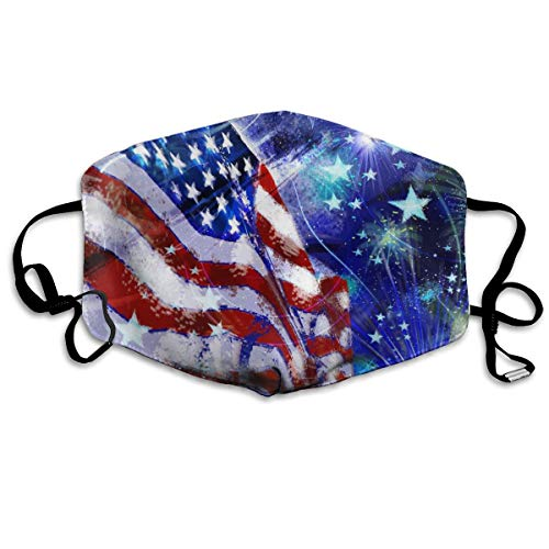Face Mask Fourth of July Flage Breathable Reusable Ear Loop Unisex Face Balaclava Bandana for Women...