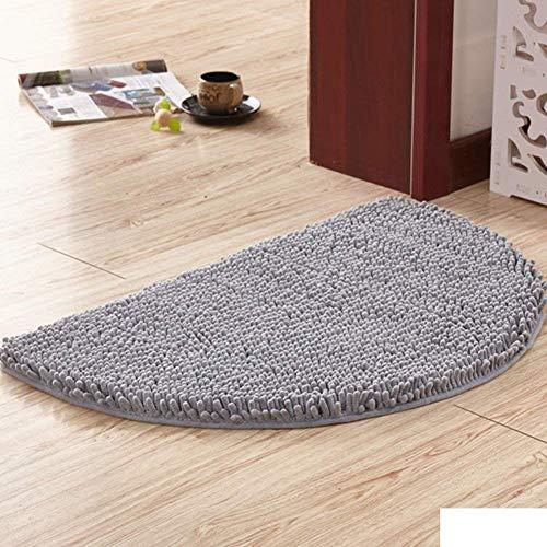 ZXL huishoudtapijt-/badmat donkerbruin, halfronde, absorberende mat, antislipmat voor de badkamerdeur