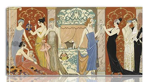 Berkin Arts George Barbier Gedehnt Giclee Auf Leinwand drucken-Berühmte Gemälde Kunst Poster-Reproduktion Wand Dekoration Fertig zum Aufhängen(Die Puppen)#NK