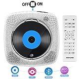 Lettore DVD Portatile, Lettore CD Portatile Bluetooth Montabile a Parete, Altoparlante HiF...