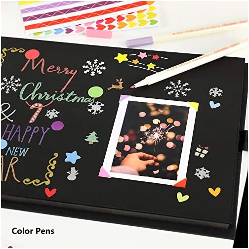 YILEEY Scrap Book 80 Black Pages Scrapbook, Photo Album 12 x 9 inches Memory Books Guestbooks, DIY Gift Scrapbooking… |