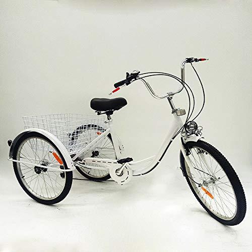 ROMYIX 24 'triciclo para adultos 3 ruedas triciclo bicicleta carga cesta