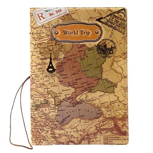 BAIGIO Sac de protection de passeport et cartes d'identité Sac de voyage Sac de protection à la mode style populaire, Marron