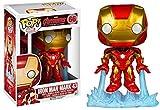 Pop Iron Man Tony Stark Figura de acción de Vinilo Muñeca de Juguete Coleccionable Modelo de Escritorio de Mano Adornos-A-B