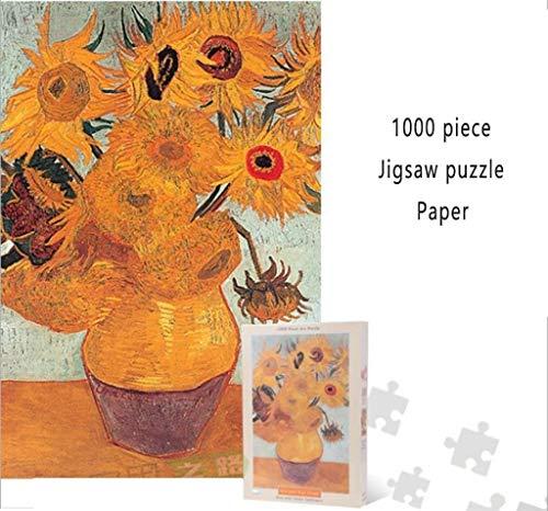 Klassieke Puzzel, Van Gogh Sunflowers Puzzle (1000-delig) papier legpuzzels spelletjes speelgoed art huis decor Stevig en gemakkelijk
