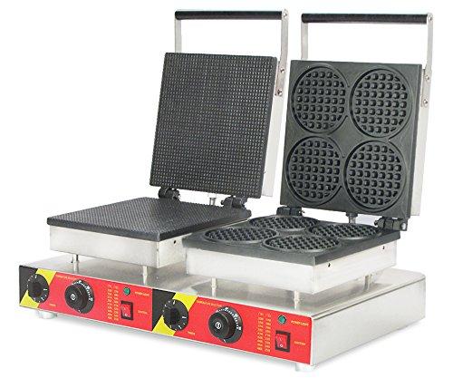 cgoldenwall np-579 Commercial ijs wafel kegel machine 2 in 1 hart vorm wafelijzer fornuis elektrische anti-aanbaklaag wafel broodrooster wafle Baker Belgische wafelmaker - 110V