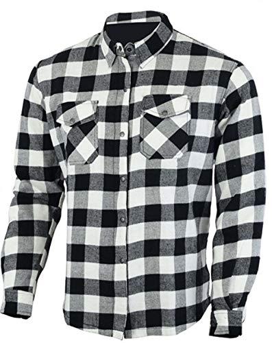 Bikers Gear Australia Kevlar camisa de franela para motocicleta con armadura extraíble CE1621-1
