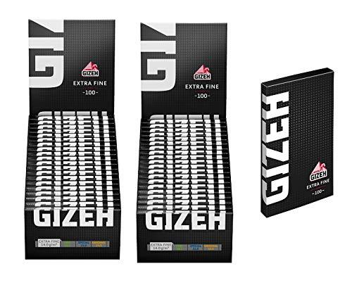Gizeh Black Extra Fine Zigarettenpapier (40x100) 14qm Flächengewicht