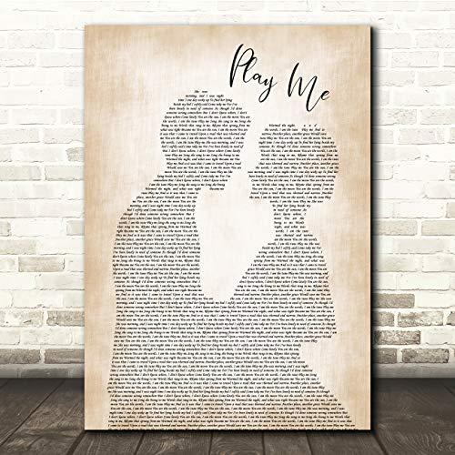 Speel Me Man Dame Bruid Groom Bruiloft Song Lyrische Quote Muziek Gift Muur Kunst Poster Print Large A3