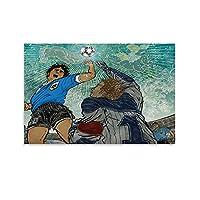 神の手マラドーナ キャンバスポスター寝室の装飾スポーツ風景オフィスルームの装飾ギフト,キャンバスポスター壁アートの装飾リビングルームの寝室の装飾のための絵画の印刷 20x30inch(50x75cm)