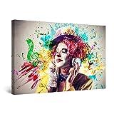 Startonight Cuadro Moderno en Lienzo Clown y Música, Pintura Abstracta para Salon Decoración Grande 80 x 120 cm