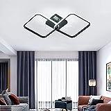 Osairous Plafoniera da soffitto LED quadrata moderna in acrilico, Plafoniera 42W Lampadari per Cucina Sala da pranzo Salotto Studio Ufficio 6500K Diametro 59cm