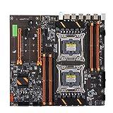 Tonysa X99 Dual Server Motherboard, Rückseite 4 USB3.0 Gigabit Netzwerkkarte 8 Speichersteckplatz Mainboard Unterstützung 4-Gen 8 * DDR4 DIMM 3000/2666/2400/2133MHz Server Motherboard für Computer