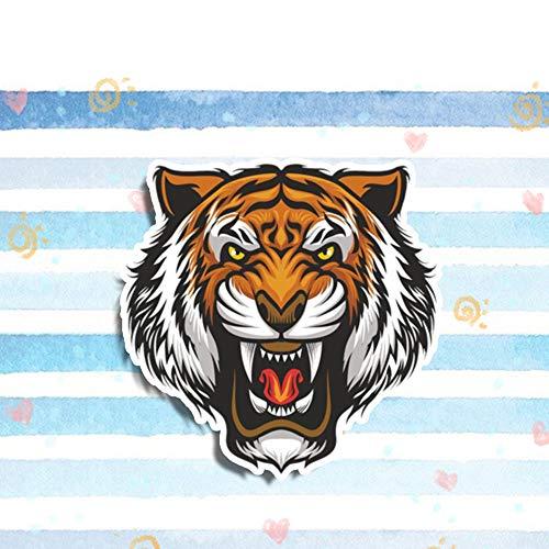 GQQ Autosticker, 13 cm x 12 cm, Angry Tiger Cartoon autosticker, waterdicht vinyl racewagen, sticker, bumper, raam, auto accessoires style 1
