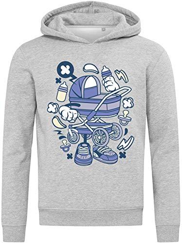 Iprints Cartoon Styled Baby Stroller Kid Lightning Sudadera Unisex Small