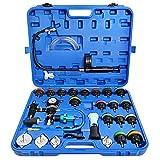 TIMTOKIT Coolant Pressure Tester Kit 33PCS with 2 Universal Adapters, Vacuum Type Radiator Cooling System Pressure Tester Kit