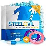 *NEU* STEELOVIL - Das Natürliche Potenzmittel mit der Einzigartigen Stiff-Power Formel I NEUTRALE LIEFERVERPACKUNG I 4 Hochdosierte Inhaltsstoffe (rosa + lila)