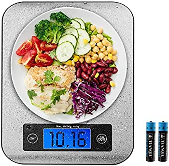 DONSHER 22lb Digital Kitchen Food Scale (Stainless Steel)