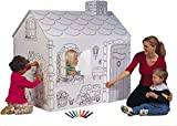 My Very Own House Cardboard Coloring Playhouse Cottage, 49'H x 36'L x 55'W