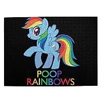 My Little Pony 大人と子供のための木製ジグソーパズル500ピース、クリエイティブギフトの家の装飾のためのアートワークジグソーパズルおもちゃ