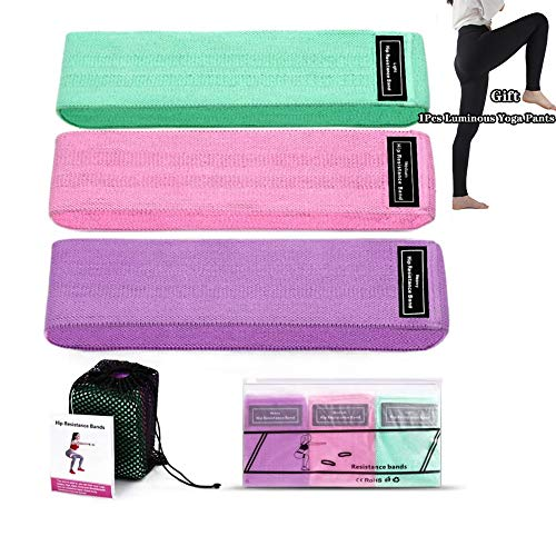 Fabric Resistance Bands Set Premium Exercise Booty Band for Legs and Glutes, Best for Home Fitness, Yoga, Pilates Gift: Yoga Pants
