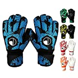 VIREO Football Gloves for Youth & Adult, Goalkeeper Gloves Kids with Finger Support, Latex Soccer Gloves for Men and Women, Junior Keeper Football Gloves for Training and Match, Size 8/9/10