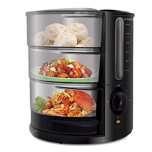 MQQ Gemüse Dampfgarer, 9 Qt 1500W schnelle Heizung elektrische Dampfer mit 3 Tiere, Fischfutter Dampfer Korb, Ei-Halter Baby Food