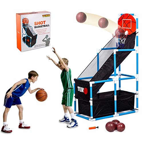 Tuko Toddler Basketball Hoop Arcade Board Game Shooting Training System Playset Toys for 3+ Years Old Boy and Girl Gift