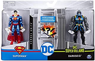 Spin Master DC Heroes Unite 2020 Superman VS Darkseid 4-inch Action Figure with 6 Mystery Accessories. (1st Edition)