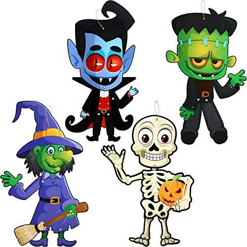 Sumind - Set di 4 divertenti decorazioni per feste di Halloween, per Halloween e feste di Halloween