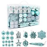 HAIGOU - 113 bolas de Navidad para colgar en el árbol