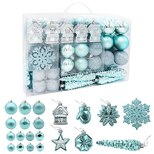 HAIGOU - 113 palline di Natale per albero di Natale